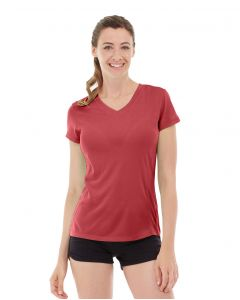Gabrielle Micro Sleeve Top-S-Red